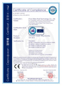 ASP100A CE certificate